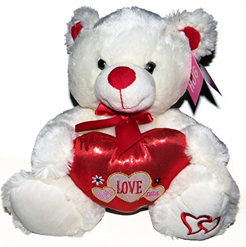 13088a7c757bd dan dee collectors choice. Plush White Teddy Bear with Hugs Love and Kisses  by Hugme