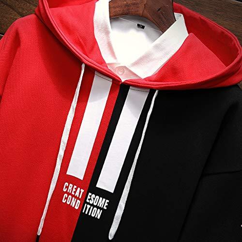 Hombres E Capucha Color Otoño Con Liso Internet—suéter Para De xHq8Y6pvw