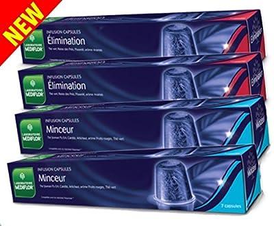Mediflor Infusion MINCEUR + ELIMINATION Capsules compatibles Nespresso - Lot de 4 boites de 7 capsules ME