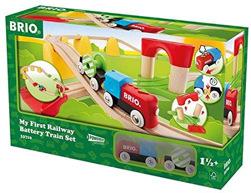 BRIO World 33710 - Mein erstes Bahn Set mit Batterielok, bunt