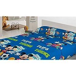 Juego de Sábanas Coralina Mickey Mouse cama 90