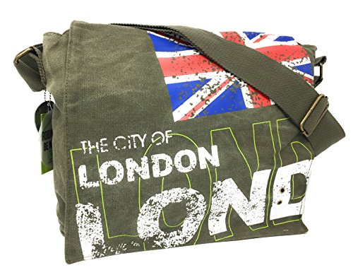 Robin Ruth Londres City Union Jack Grand Sac Messenger Vert