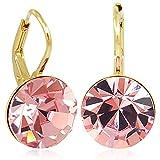 Ohrringe mit Kristallen von Swarovski® Gold Rosa NOBEL SCHMUCK