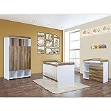 Babyzimmer Mexx 5-tlg. in der Farbe Walnuss Weiss mit 3 türigem Kleiderschrank