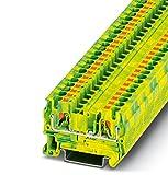 PHOENIX CONTACT Schutzleiter-Reihenklemme PT 4-PE, 50 Stück, 3211766