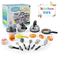 Cooking Toy Set, Kitchen Cooking Toys for Kids - Pretend Play Food Toys for Early Age Children