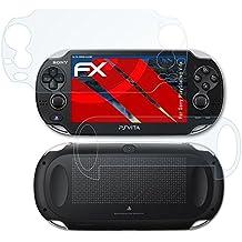 atFoliX Antichoque Película Protectora Sony PlayStation Vita Protector Película - Set de 3 - FX-Shock-Clear