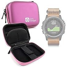 DURAGADGET Estuche Rígido Rosa Para Smartwatch Garmin Fénix 3 / HR / Leather / Nylon / Titanium
