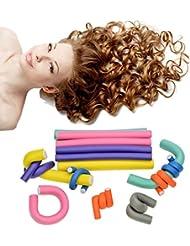 HapiLeap 42 pcs Rouleaux Bigoudis Bigoudis Flexibles en mousses DIY outil de coiffure Pour les Femmes