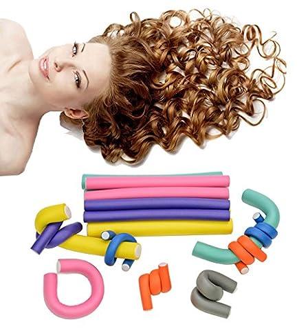 HapiLeap 42 pcs Rouleaux Bigoudis Bigoudis Flexibles en mousses DIY outil de coiffure Pour les