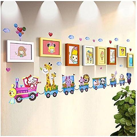 XKDHC® 8 foto telaio parete box 7 - pollici tinta legno qualità semplice parete moderna adesivi per bambini in camera foto parete photo frame set di parete di foto di asilo , 8