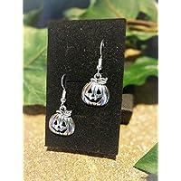 Handmade Halloween Pumpkin Silver Plate Earrings (Pair) Gift Boxed