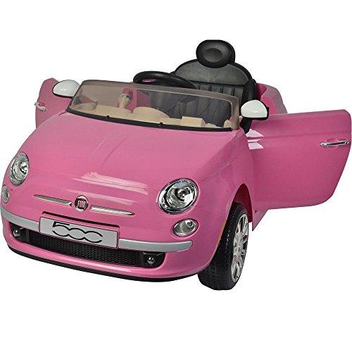 Colibrì Auto elettrica per bambini FIAT 500 Rosa R/C 12V
