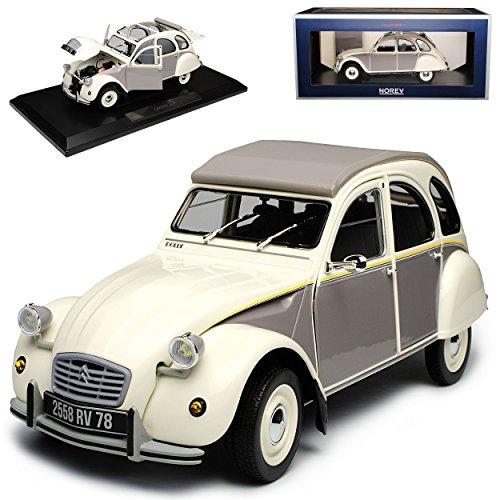 Norev Citroen 2CV Dolly Weiss Grau 1949-1990 1/18 Modell Auto - Citroen Modell