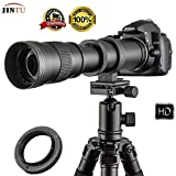 Teleobjetivo manual 420-800 mm F/8.3-16 de marco completo para cámara digital Nikon D7100 D80 D90...