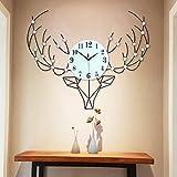 GAOLILI Orologio della testa del cervo Orologio della stanza da letto moderna della stanza di vivimento dell'orologio di modo Personalità
