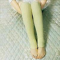 YUCH Botas para Mujer Mangas Calcetines Calcetines De Yoga Cálidos De Punto Otoño Invierno,Mi,Talla Única