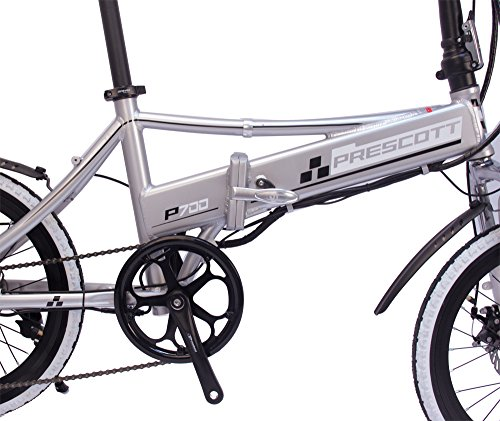 Electric Bike Prescott Folding Electric Bicycle With Removable Lithium – Iron Battery Shimano 250W Adult E-Bike ?White?