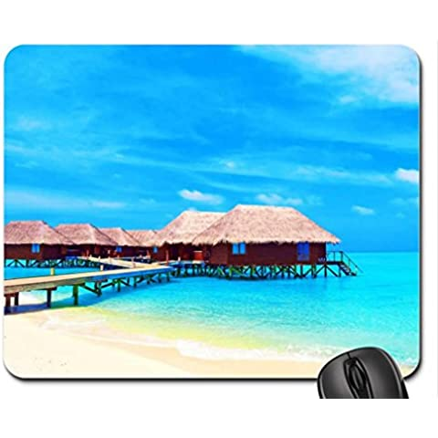 Maldives Beach Cottages Mouse Pad, tappetino per Mouse, spiagge Mouse Pad) - Beach Cottage Accessori