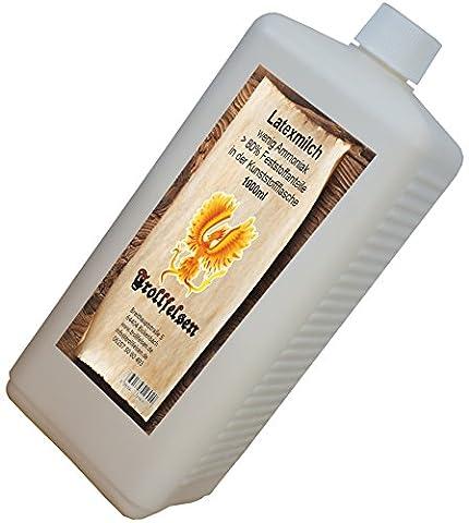 Trollfelsen Latexmilch Flüssiglatex 500ml Kunststoffflasche Transparent Naturfarben Maskenbau Bodypaint 1 (Kostüm Maskenbildner)
