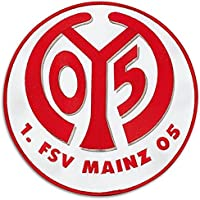 Aufnäher 1. FSV Mainz 05 Logo - 10 cm + gratis Aufkleber, Flaggenfritze®