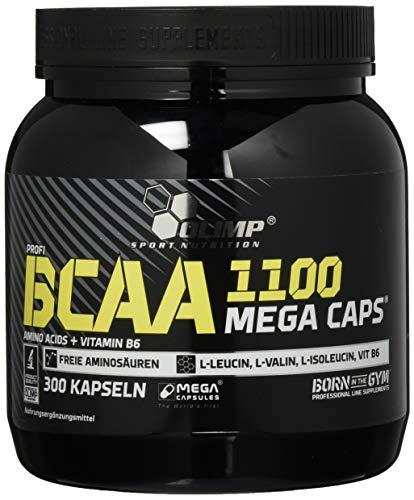 Olimp BCAA 1100 Mega Caps | Aminosäuren mit Vitamin B6 | 300 Kapseln