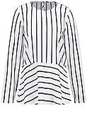 Gerry Weber Damen Bluse Tunika Tunika mit Streifen Blau-Weiß 48