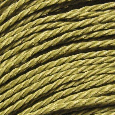 Olive Cord (k2-accessories 0.7mm Twist Waxed Cotton Cord - C0732 / Olive - BULK 50 Mtrs)
