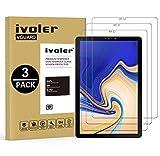 iVoler [3 Unidades] Protector de Pantalla Samsung Galaxy Tab S4 10.5 Pulgadas (T830 / T835), Cristal Vidrio Templado Premium