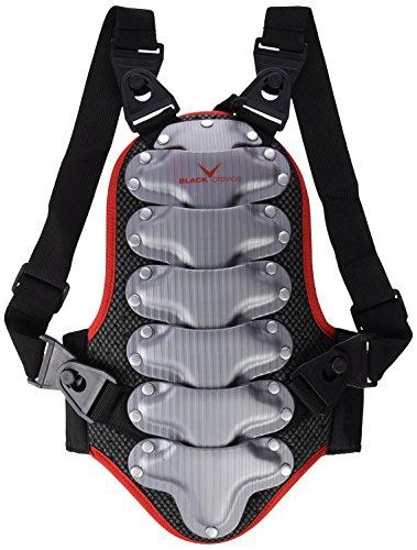 Black Crevice Protector Espalda Negro/Rojo/Plata 8