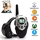 xuehaostore Collar de Adiestramiento para Perros, 1000 Metros, 3 Modos, Impermeable y Recargable