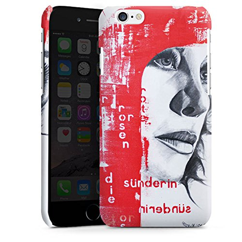 Apple iPhone 6 Housse Étui Silicone Coque Protection Femme Femme Visage Cas Premium brillant