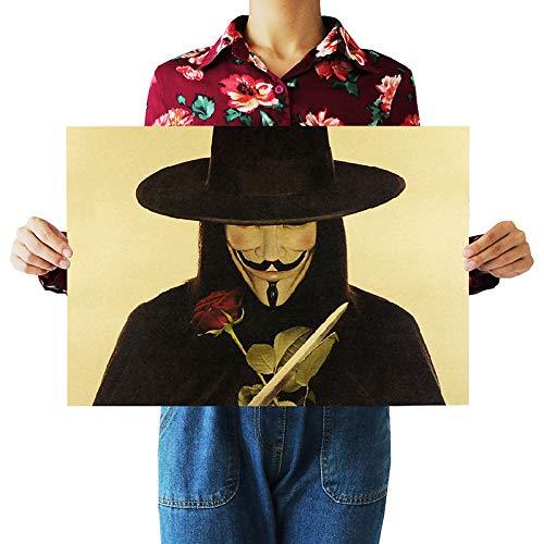 LYYDD Dlkklb Vintage Poster V para Vendetta Movie Posters Bar Cafe Etiqueta...