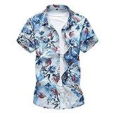 YOUTHUP Herren Sommerhemd Hawaiihemd Kurzarm Hemd Blatthemd Freizeit Hemd Besonders für Reise Urlaub