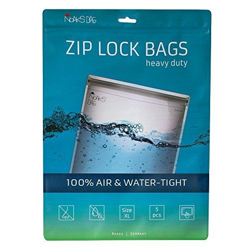 Noaks Bag | Schutzhülle, ZIP-Beutel, Dry-Bag | Größe XL - 5 Stück | 100 % wasserdicht, geruchsdicht & sicher | Für Urlaub, Sport & Reisen | Das Original Sony Zip