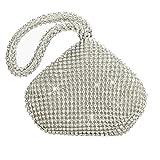 Flada Girl's and Ladies sac à main de soirée pochette strass pochette d'embrayage pour la fête de mariage de bal Argent