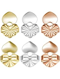 046863074 Magic Earring Backs,925 Sterling Silver Secure Backings,3 Pairs of  Adjustable Hypoallergenic Earing