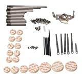 Clarinetto Yibuy DIY Tool kit di riparazione manutenzione parti Reed top vite finger chiave di supporto albero top vite Reed pin, Type A