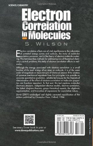 Electron Correlation in Molecules (Dover Books on Chemistry)