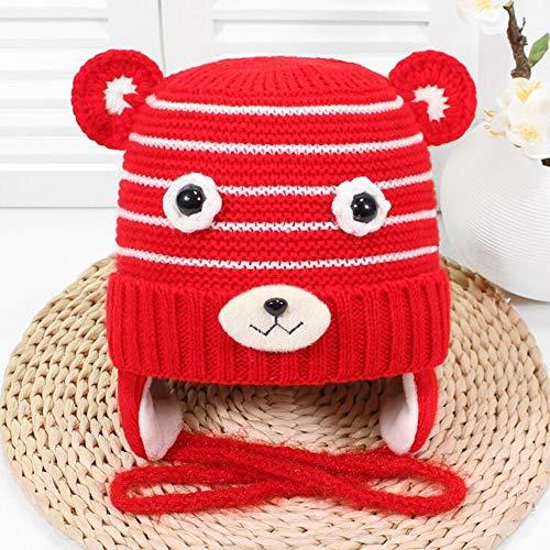Children es Hut, Children ' s Hut Wool Blend Knit hat Wool Lining Thick Warm Winter hat Boy/,Red Red Hats Classic Hut
