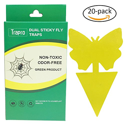 trapro-dual-sticky-fly-traps-for-houseplant-fly-insect-control-non-toxic-and-eco-friendly-20-pack