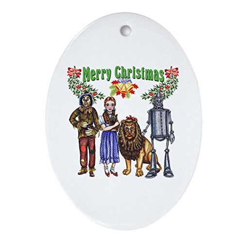 CafePress-Frohe Weihnachten Von Oz-oval Urlaub Weihnachten (Der Zauberer Von Oz Tinman)