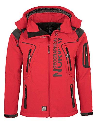 Geographical Norway Herren Softshell Funktions Outdoor Jacke wasserabweisend [GeNo-5-Rot-Gr.L]