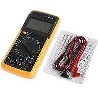 Dabixx Digital DT-9205A Multímetro LCD Probador de capacitancia de Resistencia de amperímetro ...