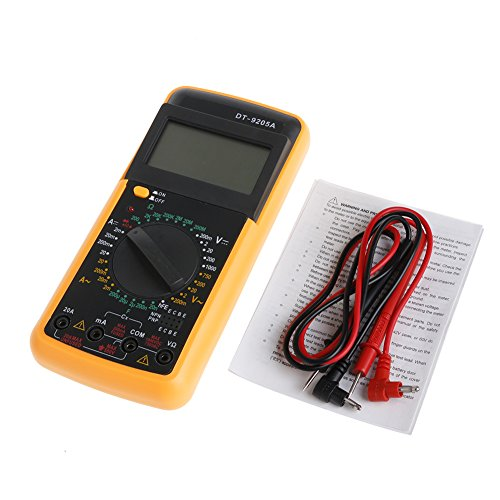 Dabixx Digital DT-9205A Multimeter LCD AC/DC-Amperemeter Widerstands-Kapazitätsprüfgerät Dt Lcd