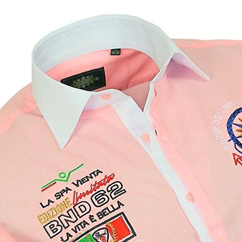 Binder de Luxe Herren Herren Hemd modern fit Kurzarm Rosa