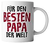 vanVerden Tasse Für den besten Papa der Welt inkl. Geschenkkarte, Farbe:Weiß/Bunt