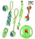Vaycally 7pcs Pet Dog Toys Durable Puppy Pet Corda da Masticare Corda di Cotone Knot Ball Grinding Denti Toy Set Materiale Non tossico Colori Vivaci Design Accattivante per Cani
