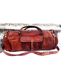 Mk Bags, Leather Luggage Bag/Travel Duffles Bags For Men/Women/Unisex A22
