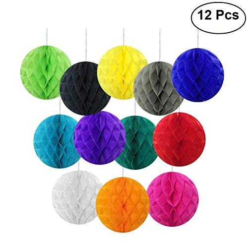 cm Gewebe Verschiedene Farbe Papier Pom Poms Papercutting Papierlaternen Honeycomb Ball Hängende Dekoration Ornamente für Hochzeit Geburtstag Party Wohnkultur ()